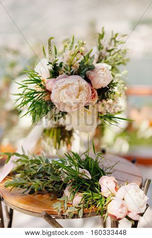 Wedding Bouquet Orchids And Peonies