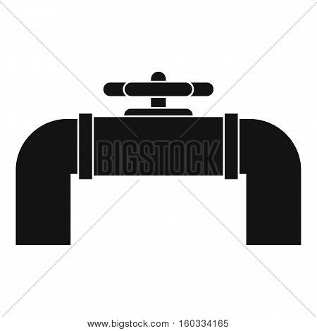 Industrial pipe valve icon. Simple illustration of industrial pipe valve vector icon for web