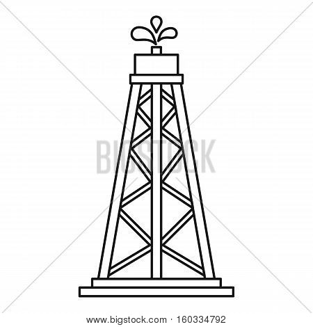 Oil resources icon. Outline illustration of oil resources vector icon for webicon. Outline illustration of vector icon for web