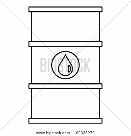 Barrel oil icon. Outline illustration of barrel oil vector icon for webicon. Outline illustration of vector icon for web