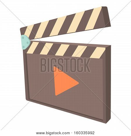 Clapboard icon. Cartoon illustration of clapboard vector icon for web