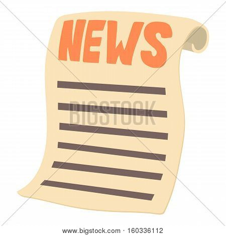 Newspaper icon. Cartoon illustration of newspaper vector icon for web