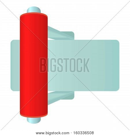 Red toggle switch icon. Cartoon illustration of red toggle switch vector icon for web
