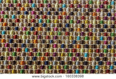 Doormat carpet mat texture background. close up