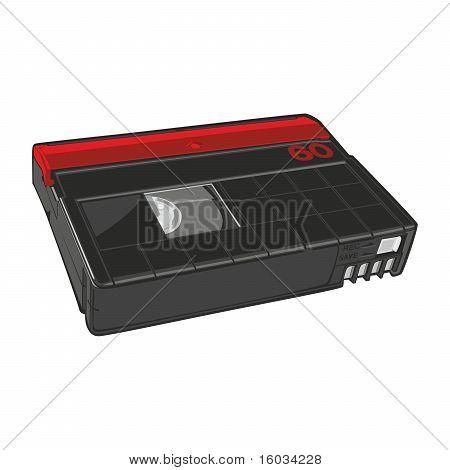 fully editable vector illustration of mini DV cassette isolated on white poster