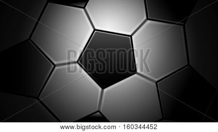 Vector Illustration of Soccer Ball Background. Best for Soccer, Football, Sport, Design Element concept.