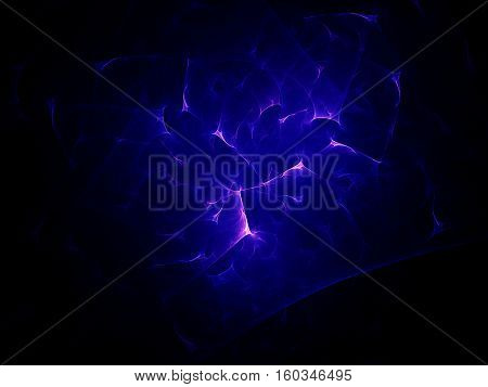Abstract image generating computer graphics. Cosmos, flames, physical phenomena, nuclear and chemical interactions, nature and medicine.