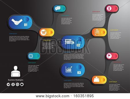 stock vector infographics design list with round design business concept