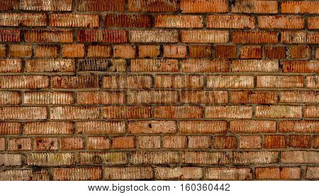 Brickwork. Grunge brick wall. Rough brick wall. Grunge brick background