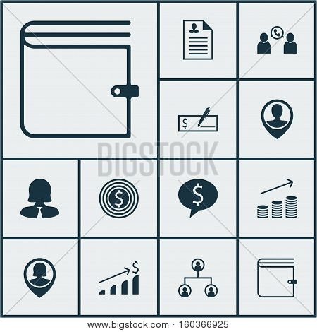 Set Of 12 Management Icons. Can Be Used For Web, Mobile, UI And Infographic Design. Includes Elements Such As Structure, Opinion, Success And More.