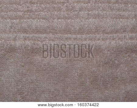 texture beige Terry cloth cotton, close up