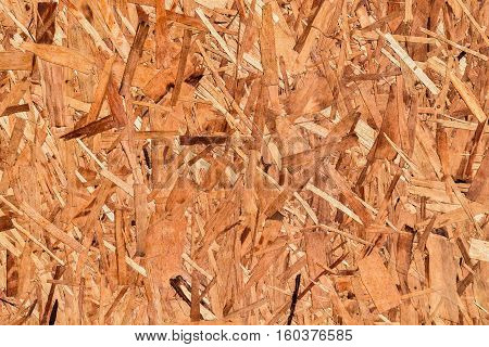 Close up of particleboard background texture surface pressed wooden