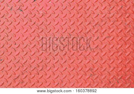 Steel  red floor background and design idea.