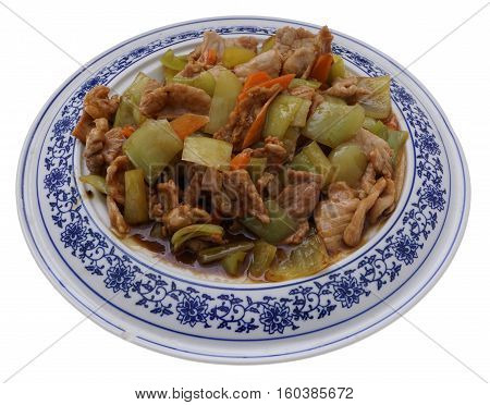 Chinese Food. Pork In Sauce With Pepper
