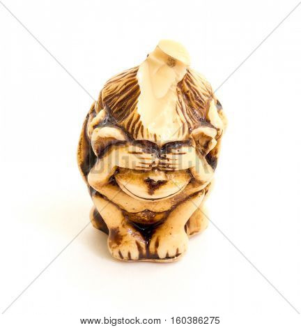 Japanese netsuke Three wise monkeys, sometimes called the three mystic apes, are a pictorial maxim.