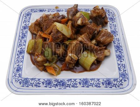 Chinese Cuisine. Chinese Food. Pork Ribs In Sauce