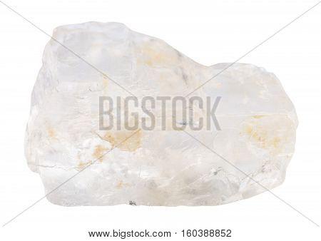 Petalite (castorite) Stone Isolated On White