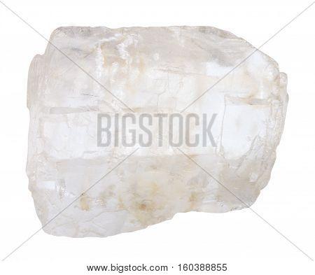 Petalite (castorite) Crystal Isolated