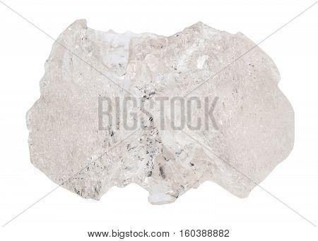 Danburite Stone Isolated On White