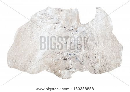 Danburite Crystal Isolated On White