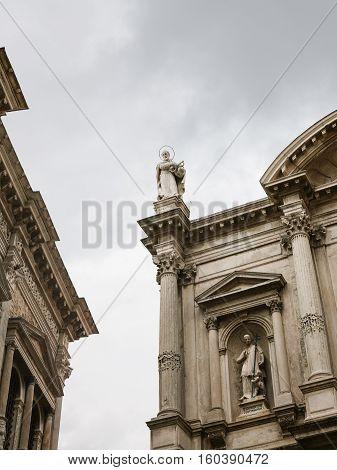 Walls Of Church And Scuola Grande In Venice