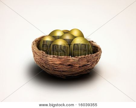 Hi-Res Nest Eggs with Barcode