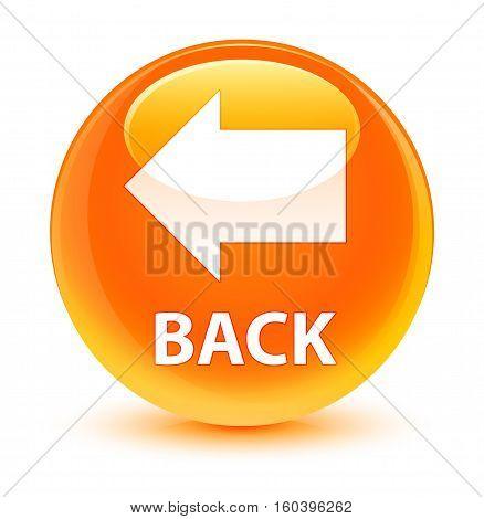 Back Glassy Orange Round Button