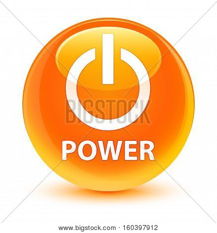 Power Glassy Orange Round Button