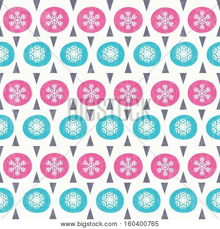 Christmas seamless pattern in retro style. Vector