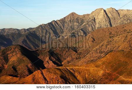 Alpine landscape in the Atlas mountains, Morocco, Africa