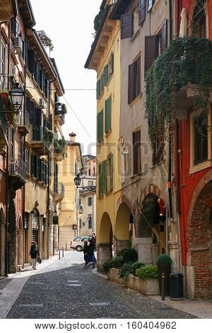 Street In Old Town Verona, Italy