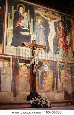 Painting Wall Of San Zeno Basilica