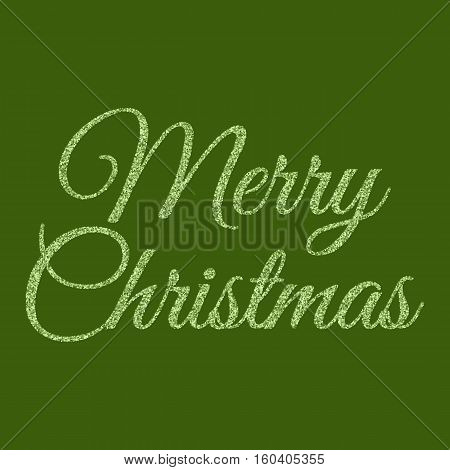 Vector illustration of gold merry Christmas. Stock vector