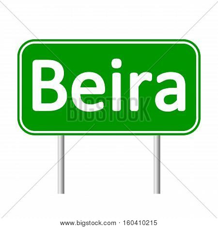 Beira road sign isolated on white background.