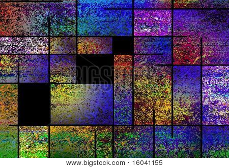 Abstract with rectilinear forms