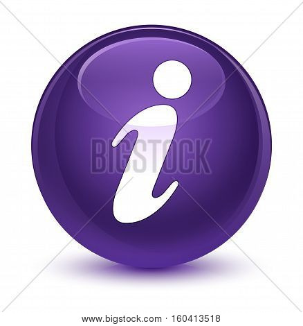 Info Icon Glassy Purple Round Button