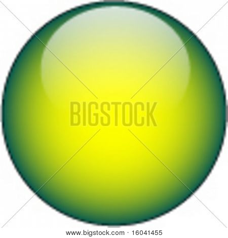 Yellow Green Glass Web Button