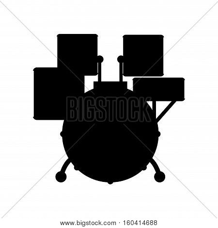 Drummer music instrument icon vector illustration graphic design