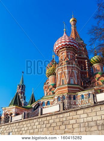 Saint Basil's Cathedral In The Red Square, Moscow, Russia