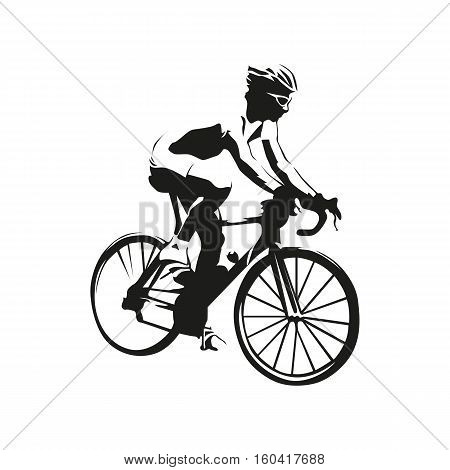 Cyclist vector illustration. Road cycling, abstract silhouette