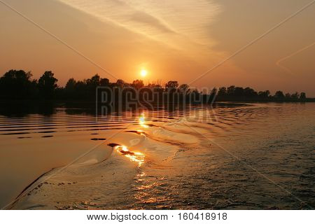 Sunset On The River
