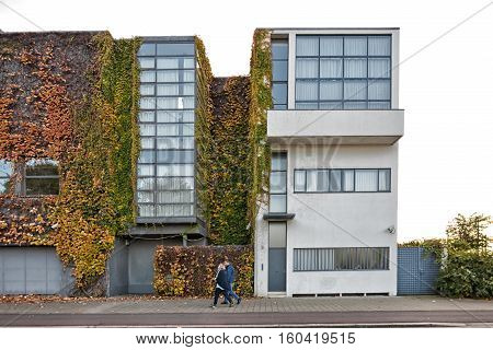 Antwerp BELGIUM - October 2016: Guiette House designed by Le Corbusier's in 1926. It's an early and classic example of the