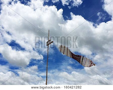 Sky View flag with Tung Lanna in northern Thailand.