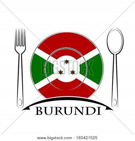 Food logo made from the flag of burundi