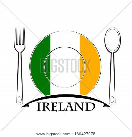 Food logo made from the flag of Ireland