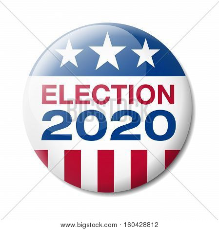 Vector illustration of a badge about the Presidential election of 2020 in the United States of America