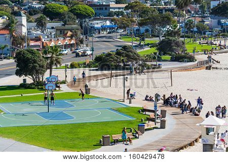 LAGUNA BEACH CALIFORNIA - NOVEMBER 03 2016: basketball courts in Laguna Beach California
