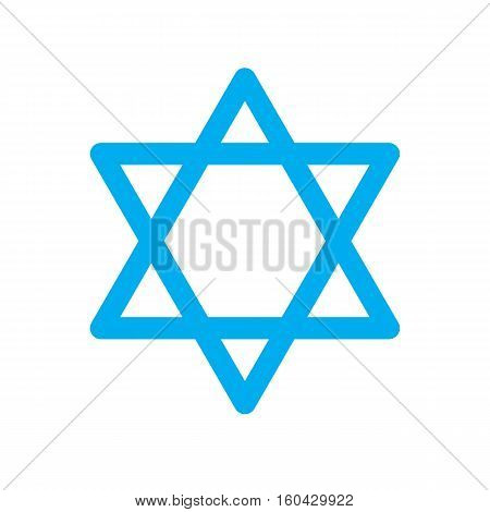 Star of David Icon on white background. Star of David sign.