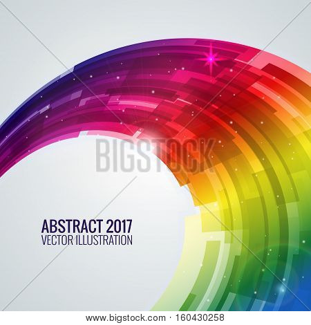 Iallustration depicting abstract. Round image background for design. Vector object, explosion substance matter. Object with the image of the explosion. Color banner.
