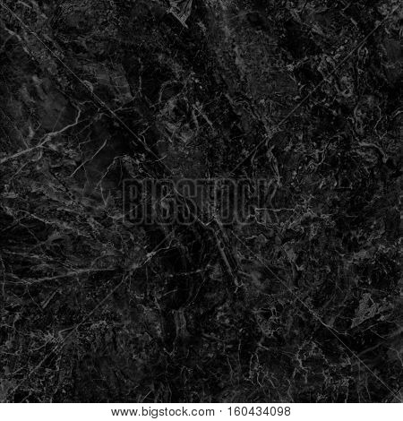 Black marble texture background (High resolution scan)